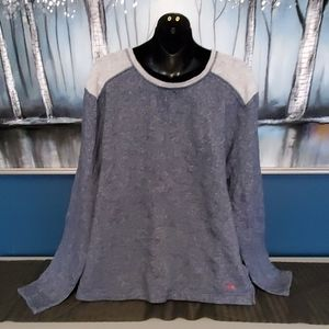 Tommy Bahama XL Blue Gray Pullover Sweatshirt